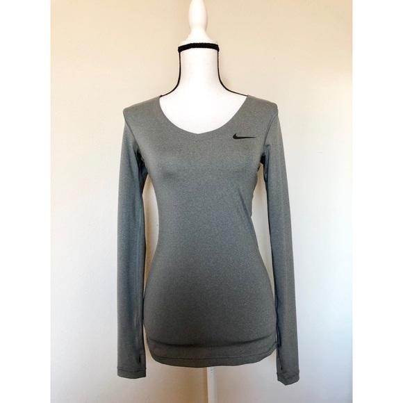 c1efe467 Nike Tops   Pro Womens V Neck Long Sleeve   Poshmark